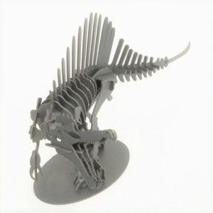 3Dペーパーパズル スピノサウルス(Lサイズ)(ブラック)