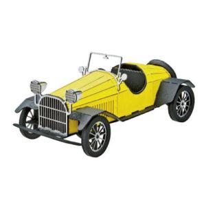 3Dペーパーパズル クラシックカー<イエロー>