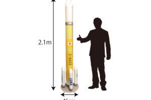 ダンボールモックアップ制作事例H3ロケット模型